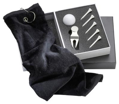 Coffret golf<br> 1serviette, 5 tees, 1balle, 1 RP